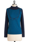 Crystal Clear Cardigan by Yumi - Mid-length, Blue, Buttons, Long Sleeve, Casual, Scholastic/Collegiate, Quirky