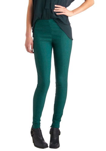 Sleek to Discover Pants - Green, Solid, Skinny, Casual, Urban, Fall, Girls Night Out, High Waist