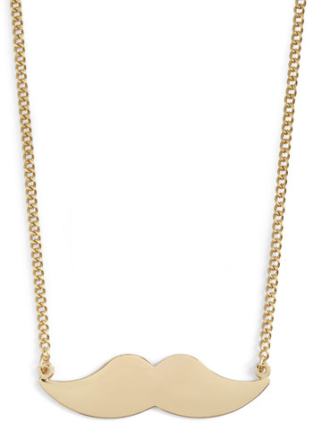Groomed for Improvement Necklace - Gold, Solid, Casual, Quirky, Menswear Inspired