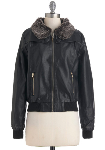 Detroit Rock Pretty Jacket - Faux Leather, Short, Black, Brown, Pockets, Long Sleeve, 2, Fall, Holiday Sale