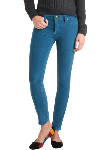 The Real Ideal Pants in Water Blue by Blank NYC - Blue, Solid, Pockets, Skinny, Casual