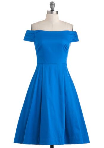 Kettle Corn Dress in Blue