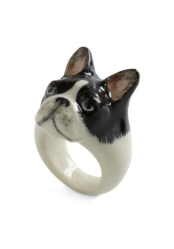 Constant Companion Ring in French Bulldog - Black, White, Quirky