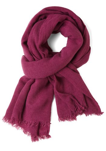 Shawl I Need Scarf in Fuchsia - Pink, Solid, Casual, Fall, Winter