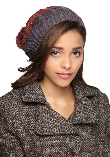 Hat to Break It to You in Russet - Orange, Grey, Knitted, Winter, Tis the Season Sale