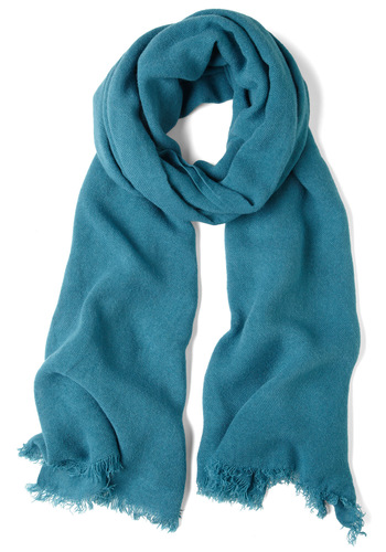 Shawl I Need Scarf in Teal - Blue, Solid, Fall, Winter