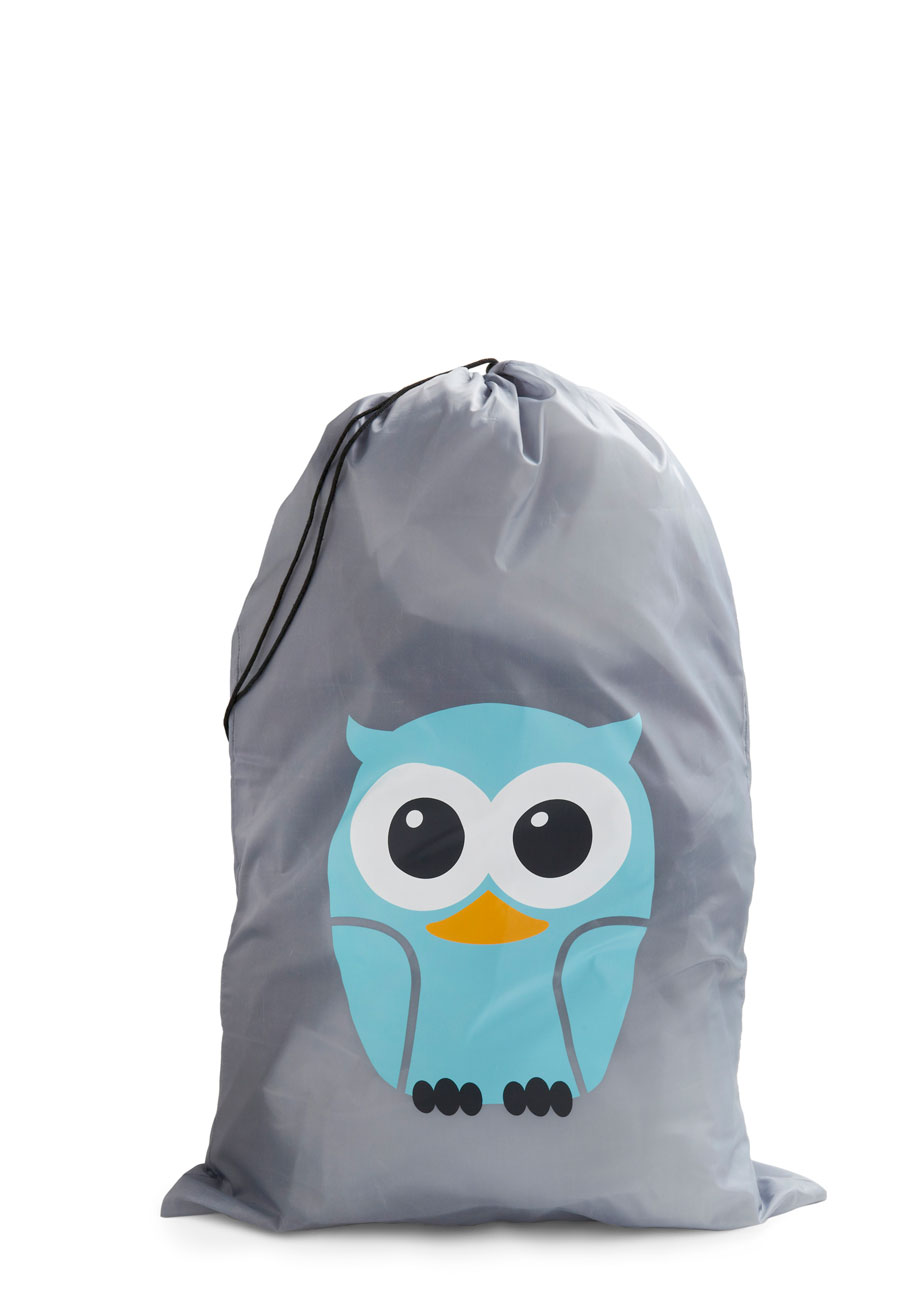 Whos hoot laundry bag mod retro vintage decor for Who s perfect sale