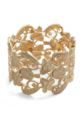 Couldn't Filigree More Bracelet in Ivory - Cream, Gold, French / Victorian, Luxe, Cocktail, Holiday Party, Graduation
