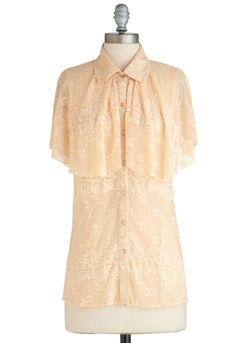 Sample 2252 - Cream, Solid, Lace, Short Sleeves, Lace