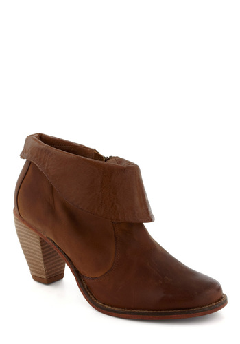 Gambol Away Bootie - Mid, Leather, Brown, Solid, Casual, Luxe, Urban, Rustic, Fall