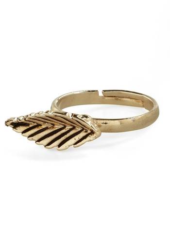 Leaf-let It Roll Ring - Gold, Casual, Vintage Inspired