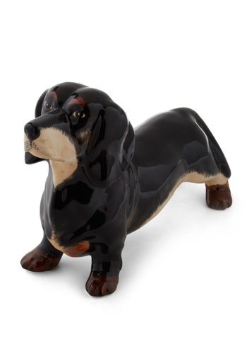 Fraid I Must Dachshund Bank - Brown, Quirky, Tan / Cream, Solid, Dorm Decor