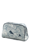 Swell Acquainted Toiletry Bag - Cotton, Blue, Nautical, White, Novelty Print, Travel