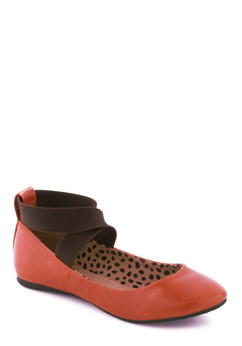 Pumpkin Party Flat - Orange, Brown, Flat, Casual, Fall