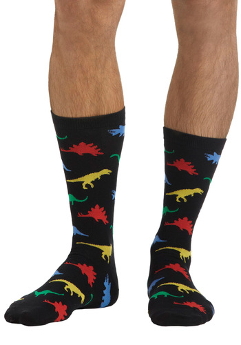 Dance Dance Evolution Socks - Black, Multi, Print with Animals, Novelty Print, Casual, Quirky, Scholastic/Collegiate, Knitted