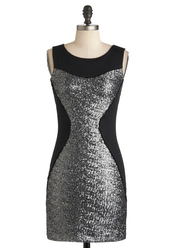Use the Fierce Dress - Black, Silver, Sequins, Party, Girls Night Out, Sheath / Shift, Sleeveless, Jersey, Short, Cocktail, Bodycon / Bandage