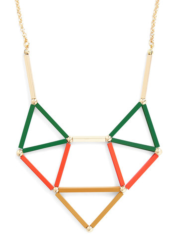 Configure It Out Necklace in Autumn - Multi, Gold, Party, Statement, Colorblocking