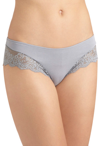 It's a Beautiful Grey Undies by Only Hearts - Grey, Solid, Lace, Sheer, Vintage Inspired
