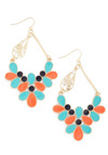 Refined the Time Earrings in Sunset - Orange, Blue, Gold, Party, Casual, Statement