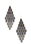 Craft a Shadow Earrings - Black, Grey, Gold, Solid, Party, Statement