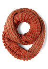 Plush Perennial Scarf in Jasper - Orange, Brown, Knitted, Winter