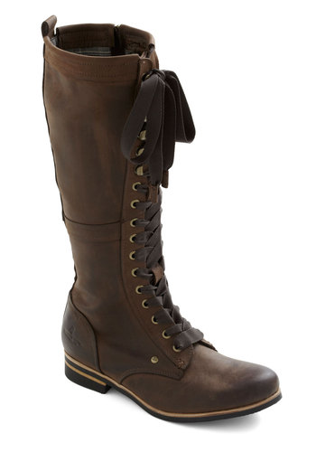 Industrial Evolution Boot - Leather, Brown, Steampunk, Lace Up, Casual, 90s, Fall, Winter, Low