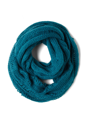 Teal Me Your Secret Scarf - Blue, Knitted, Solid, Winter