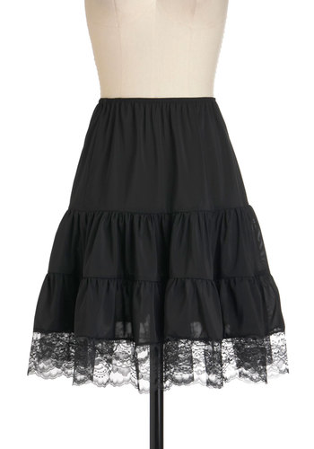 Swish and Shout Petticoat - Black, Solid, Lace, Rockabilly, Vintage Inspired, Sheer