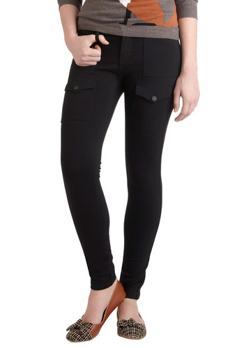 Perfect Excuse Pants - Cotton, Black, Solid, Skinny, Casual, Military, Menswear Inspired