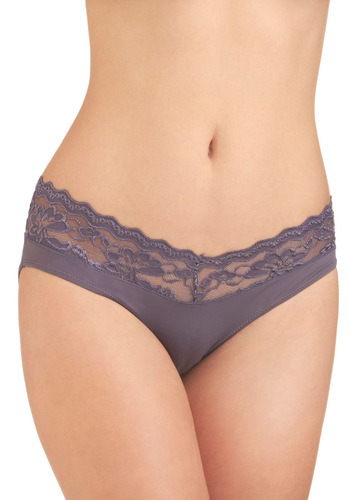 Everyday Darling Undies in Wisteria - Grey, Solid, Lace, Vintage Inspired, Variation