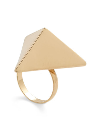 Tri Your Hand Ring - Gold, Party, Casual, Statement, Urban