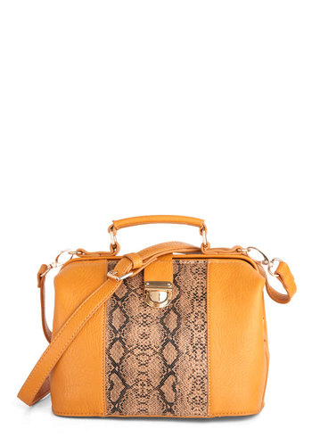 C'est Chic Bag - Yellow, Multi, Solid, Animal Print, Casual, Statement, Urban, Faux Leather