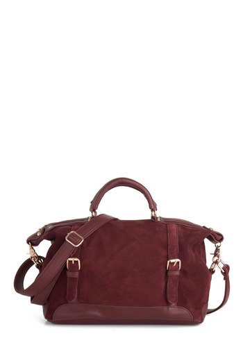 Ask for the Maroon Bag - Red, Solid, Buckles, Casual, Minimal, Leather