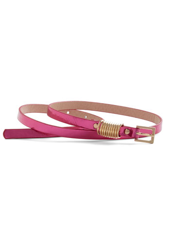 Give Me a Ring Belt - Pink, Gold, Solid, Party, Vintage Inspired, Girls Night Out