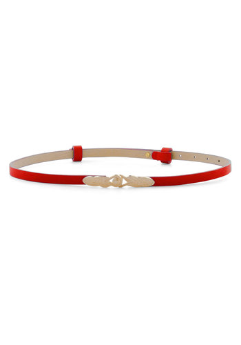 To Wear or Knot To Wear Belt in Red - Red, Gold, Solid, Party, Vintage Inspired, Faux Leather, Variation