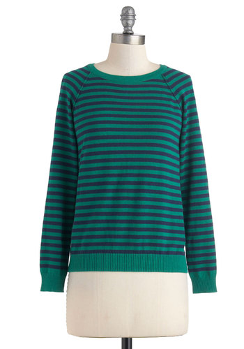 Blue Ring Special Sweater in Green