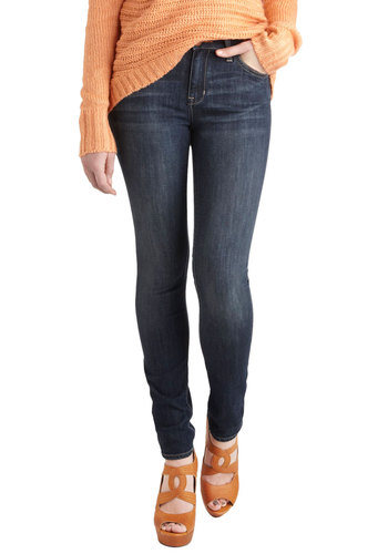 Everyday Adventure Jeans by Dittos - Blue, Pockets, Skinny, Denim, Casual, Urban, High Waist