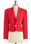 Vintage Dot Be Shy Blazer