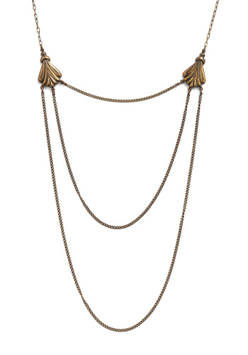 More Than You Nouveau Necklace by Ornamental Things - Gold, Solid, Chain, Party, Casual, Vintage Inspired, 20s