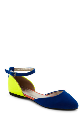 Bright as Aire Flat - Multi, Colorblocking, Flat, Yellow, Blue, Faux Leather