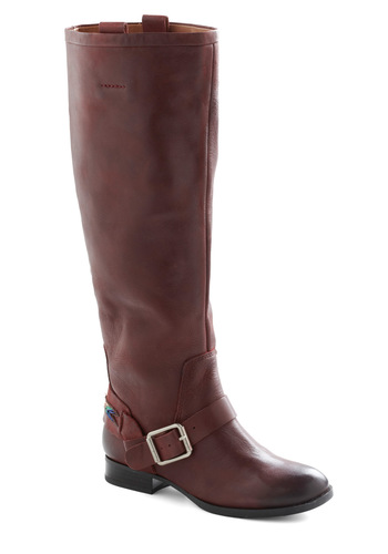 Cardinal Rule Boot - Low, Leather, Brown, Solid, Buckles, Blue, Embroidery, Casual, Fall