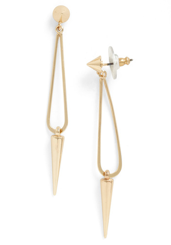 Plumb Pretty Earrings - Gold, Studs, Party, Casual, Statement, Urban