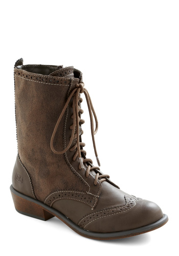 Tips for Travel Boot - Low, Menswear Inspired, Lace Up, Brown, Faux Leather
