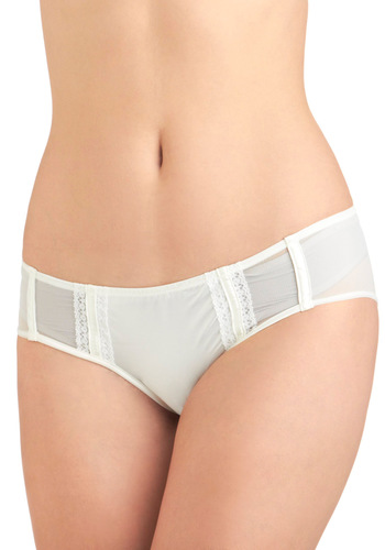 Simple Flair Undies - White, Solid, Wedding, Sheer, Vintage Inspired