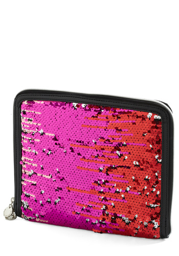 Chic Squad iPad Sleeve by Melie Bianco - Pink, Black, Gold, Sequins, Party, Casual, Statement, Travel, Glitter