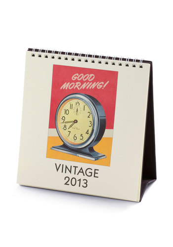 Grand Old Timey 2013 Desk Calendar in Domestic by Cavallini & Co. - Multi, Work, Vintage Inspired, Holiday