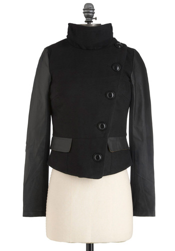 Noir You Ready? Jacket - Black, Solid, Buttons, Long Sleeve, 2, Fall, Steampunk, Short