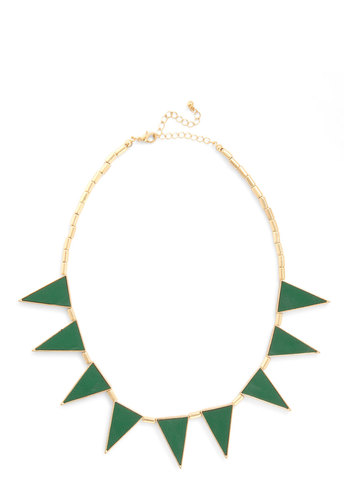 Tamarack for More Necklace - Green, Gold, Faux Leather, Party, Urban, Girls Night Out