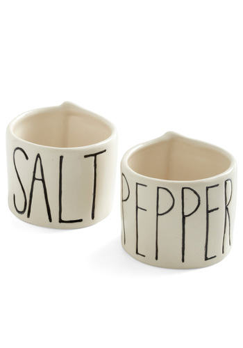 Zest of Honor Salt and Pepper Cellars - White, Black, Mod, Minimal