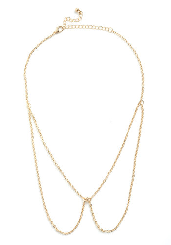 In Living Collar Necklace - Gold, Chain